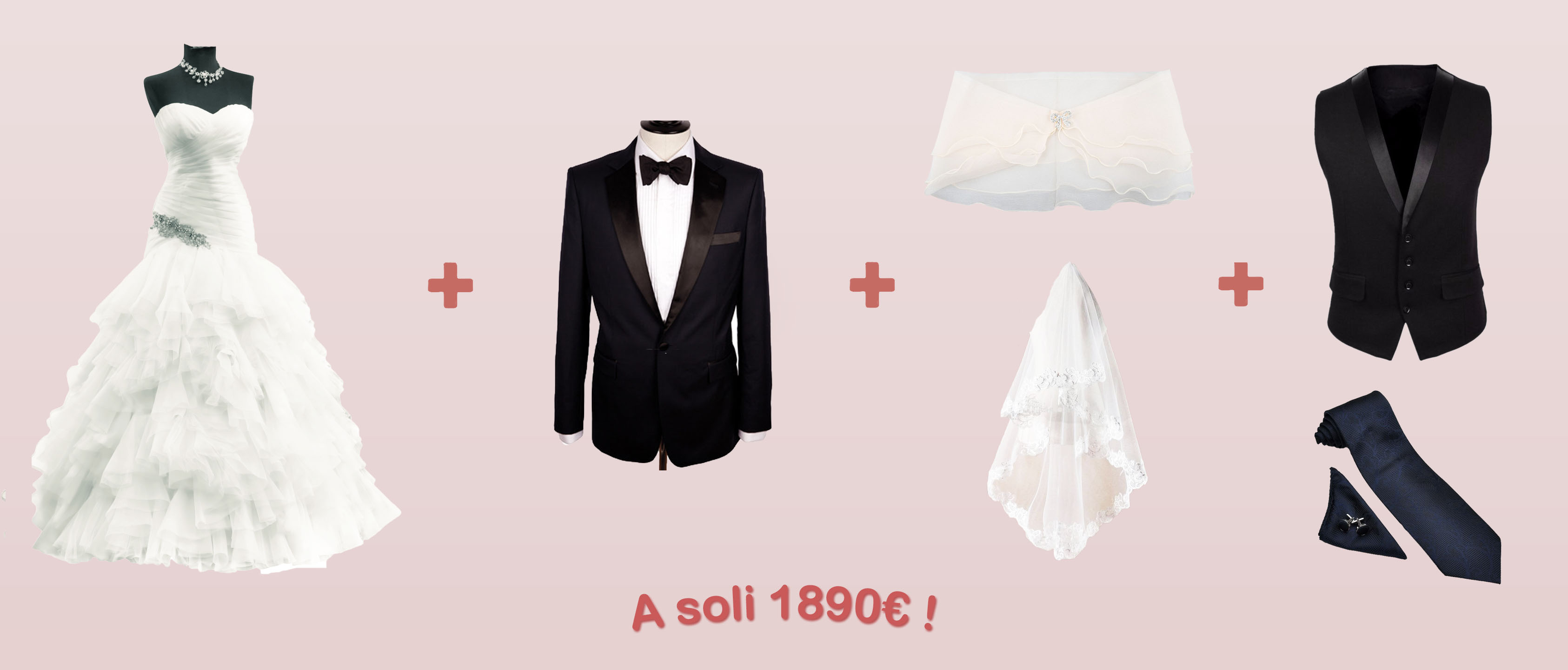 Offerta abiti da sposa, sposo e cerimonia donna