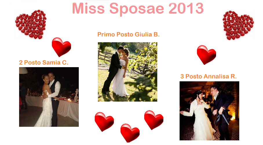 Vincitrici Concorso Miss Sposae 2013